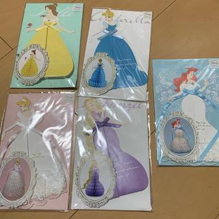 ディズニー(Disney)のディズニー プリンセス ハニカムカード(カード/レター/ラッピング)
