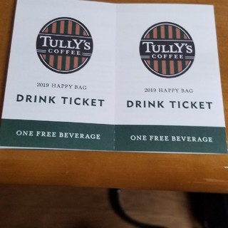 タリーズコーヒー(TULLY'S COFFEE)のTULLY'S チケット 2枚(フード/ドリンク券)