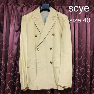 サイ(Scye)のscye (サイ)ダブルブレスト・ジャケット サイズ40(テーラードジャケット)