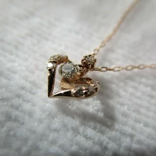 サマンサティアラ(Samantha Tiara)のSamantha Tiara ネックレス ピンクゴールド ダイアモンド K18(ネックレス)