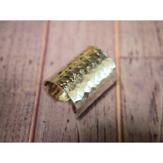 シルバー(silver925)リング【超幅広・槌目】(リング(指輪))