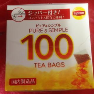 リプトン シンプル&ピュア 100入り  おまとめ時の割引単価349円(茶)