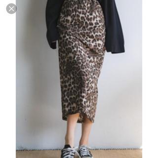 エンビールック(ENVYLOOK)の韓国 envylook レオパード タイトスカート(ロングスカート)