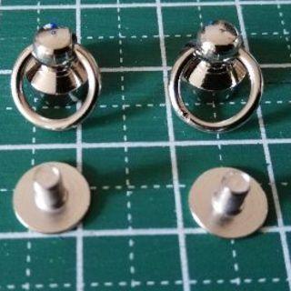 トチカン ドロップハンドル シルバー 直径8mm 2個セット(その他)