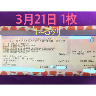 世界フィギュアスケート選手権 チケット(その他)