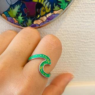 ロキシー(Roxy)のウェーブ リング グリーン 6号 波  サーフィン サーフガール(リング(指輪))