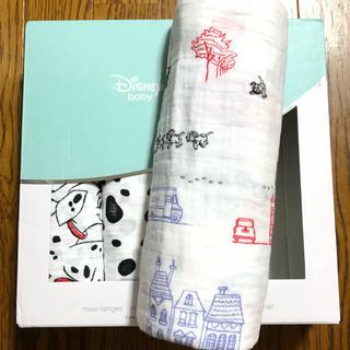 ディズニー(Disney)のレア‼️101匹わんちゃん冒険柄♥️エイデンアンドアネイ 1枚 日本未発売(おくるみ/ブランケット)