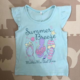 シマムラ(しまむら)の女児 100 ラメプリント Tシャツ 夏物(Tシャツ/カットソー)