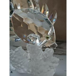 スワロフスキー(SWAROVSKI)のスワロフスキー 置物 バタフライフイッシュ(ガラス)
