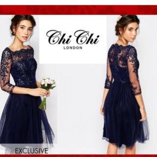 チチロンドン(Chi Chi London)のChi Chi London パーティードレス 結婚式(ミディアムドレス)