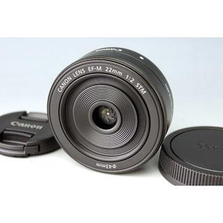 キヤノン(Canon)の【美品】キャノン CANON EF-M 22mm F2 STM★パンケーキ(レンズ(単焦点))