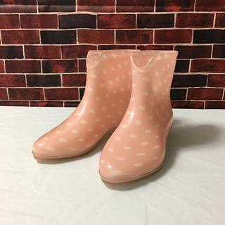 チョコホリック(CHOCOHOLIC)のchocoholic チョコホリック 水玉 ピンク レインブーツ 24.0㎝(レインブーツ/長靴)