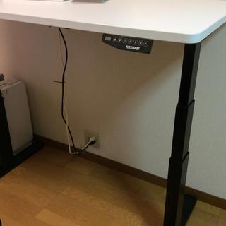 flex spot 電動式スタンディングデスク 天板白(その他)