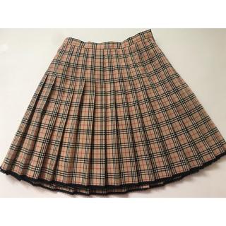7faac5b12bfee バーバリー(BURBERRY)のバーバリー チェック スカート 150 美品 クリーニング済(スカート)