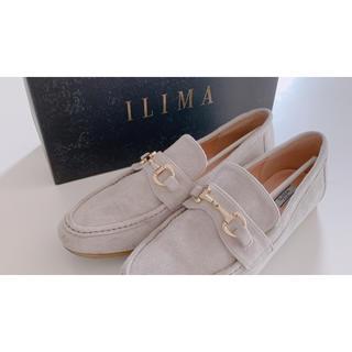 イーボル(EVOL)の美品 ILIMA イリマ ローファー スエード  ベージュグレー(ローファー/革靴)