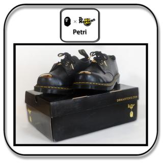 アベイシングエイプ(A BATHING APE)のドクターマーチンxBAPE Petri スチールトゥ3ホール ブラック 27cm(ドレス/ビジネス)