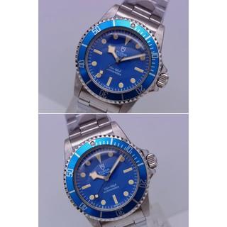 チュードル(Tudor)のチュードル イカサブ ブルー 盾マーク 自動巻 リベットブレス(腕時計(アナログ))