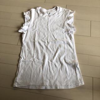 スリードッツ(three dots)のスリードッツ トップス M(Tシャツ(半袖/袖なし))