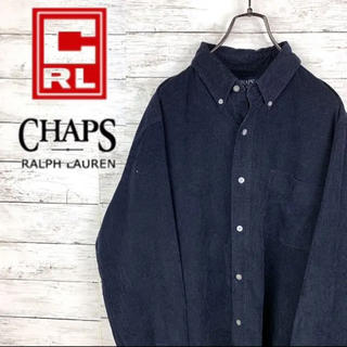 チャップス(CHAPS)の古着 90s チャップス ラルフローレン コーデュロイシャツ 刺繍 L 美品(シャツ)