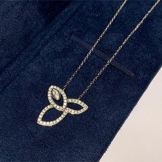 ハリーウィンストン(HARRY WINSTON)の cz diamond lily necklace(white gold)(ネックレス)