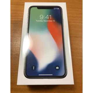 アイフォーン(iPhone)の【新品・未使用】iPhone X 64GB Silver SIMフリー (スマートフォン本体)