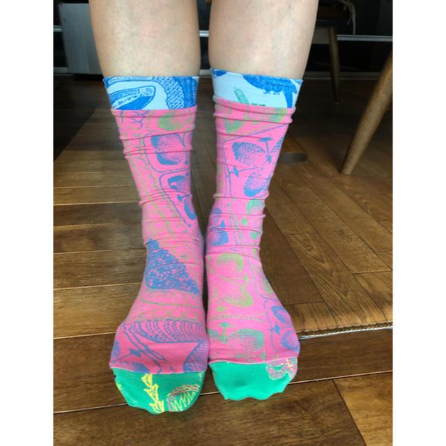 H.P.FRANCE(アッシュペーフランス)のおしゃれソックス ホォアナデアルコ Juana de arco ホットヨガ靴下 レディースのレッグウェア(ソックス)の商品写真