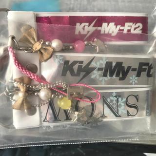 キスマイフットツー(Kis-My-Ft2)の銀テストラップ Kis-My-Ft2(キーホルダー/ストラップ)