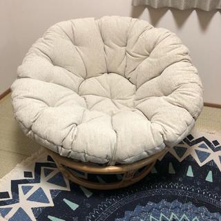 ニトリ(ニトリ)のサタン 籐 椅子 パパサンチェア ソファ 1人掛け チェア カジュアル 白 木(一人掛けソファ)