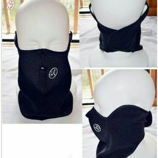 防寒対策 サイクリング フェイスマスク ネックウォーマー 黒(ネックウォーマー)