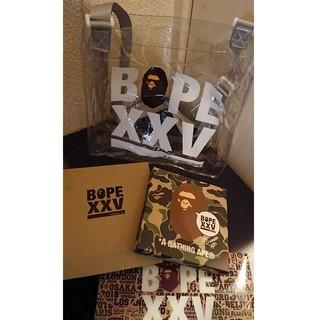 アベイシングエイプ(A BATHING APE)のBAPE 25周年記念 クリアポーチ&アートパネル(インテリア雑貨)