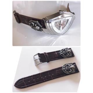 ハミルトン(Hamilton)の腕時計ベルト シルバー加工 ラグ幅20ミリ ベルトのみになります(腕時計(アナログ))