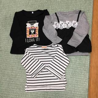 シマムラ(しまむら)のロンT 3枚セット 100㎝(Tシャツ/カットソー)