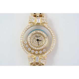 ショパール(Chopard)のショパール☆18KYG無垢☆ハッピーダイヤモンド☆クォーツ☆中古美品(腕時計)