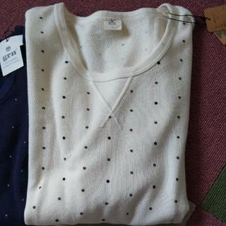ジーアールエヌ(grn)の白のドット popi様 専用(Tシャツ(長袖/七分))