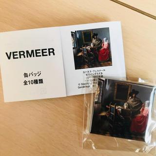 【フェルメール展】ヨハネス・フェルメール 〈ワイングラス〉缶バッチ(バッジ/ピンバッジ)