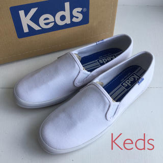 ケッズ(Keds)のKeds♪ レディーススリッポンシューズ US6(23cm) ホワイト(スニーカー)