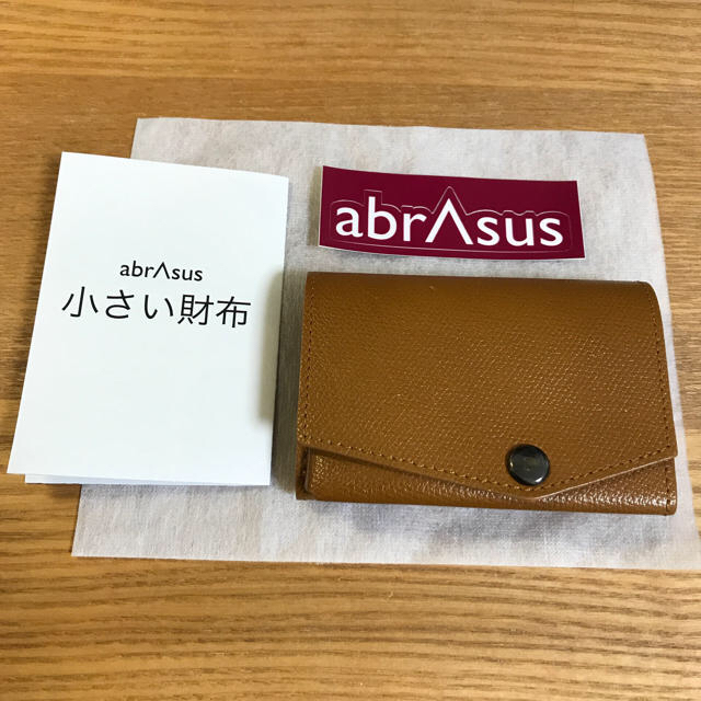 afa049b9fdd8 abrAsus(アブラサス)小さい財布 キャメルの通販 by Attick's ショップ ...