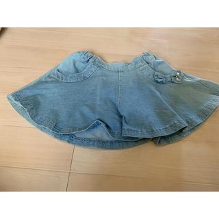オリンカリ(OLLINKARI)の子供服 スカート デニム スカート風ショーパン(スカート)