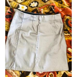 ジーユー(GU)の台形スカート シルバー(ミニスカート)