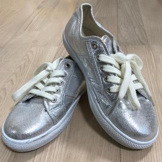 アーヴェヴェ(a.v.v)の値下げ  a.v.vシルバーシューズ靴23.0cm(スニーカー)