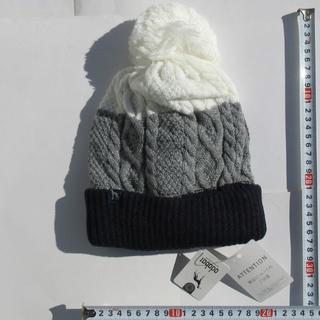 アダバット(adabat)の新品 adabat アダバット ニットキャップ 帽子 ケーブル ニット キャップ(ニット帽/ビーニー)