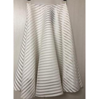 ニュールック(New Look)のNEW LOOK ホワイトフレアスカート(イギリスから購入)(ひざ丈スカート)