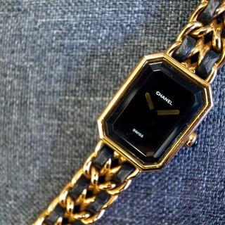 c5e356e84375 シャネル(CHANEL)の☆正規品☆シャネル プルミエール 腕時計 マトラッセ チェーンバッグ 黒