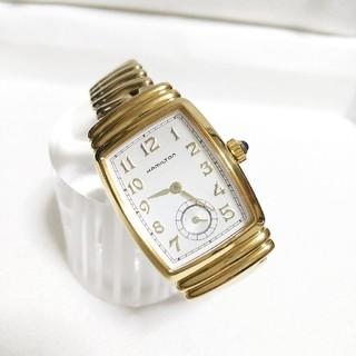 ハミルトン(Hamilton)のレア物 美品 ハミルトン レディース腕時計 金張り 純正ブレス(腕時計)