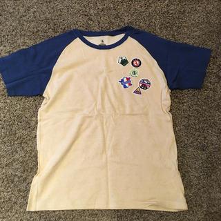エーグル(AIGLE)のAIGLE ワッペンTシャツ/クリーム(Tシャツ/カットソー(半袖/袖なし))