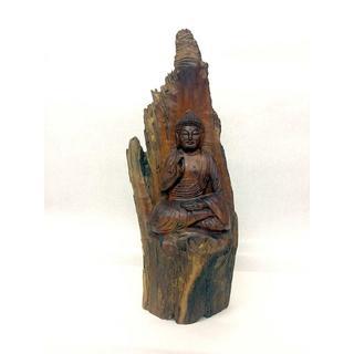唯一無二 神代杉 釈迦如来像 43.5cm 3.2kg(彫刻/オブジェ)