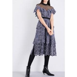 セルフポートレイト(SELF PORTRAIT)の切り替えレースドレス ワンピース(ミディアムドレス)