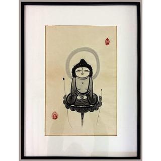 西村公朝 作 御守り本尊 戌・亥年生まれ 阿弥陀如来 木版画(版画)