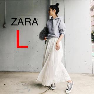 ザラ(ZARA)の新品!ZARA パーカー グレー フーディー (パーカー)