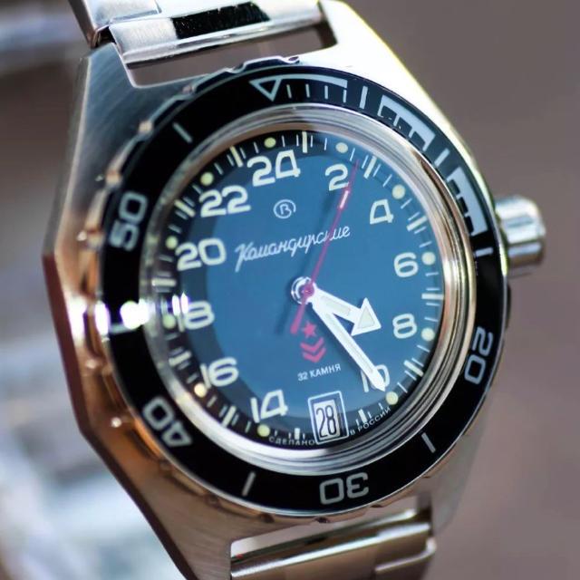 check out 011cf fd8f3 Vostok(ボストーク) Komandirskie 24h 黒文字盤 | フリマアプリ ラクマ